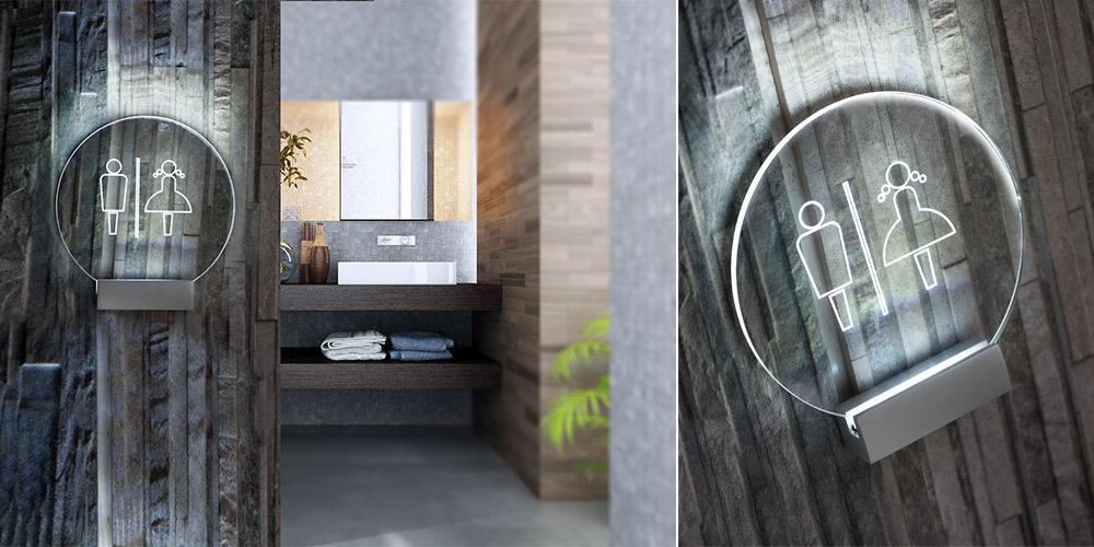 Cartelli toilette luminosi - Segnaletica ristorante