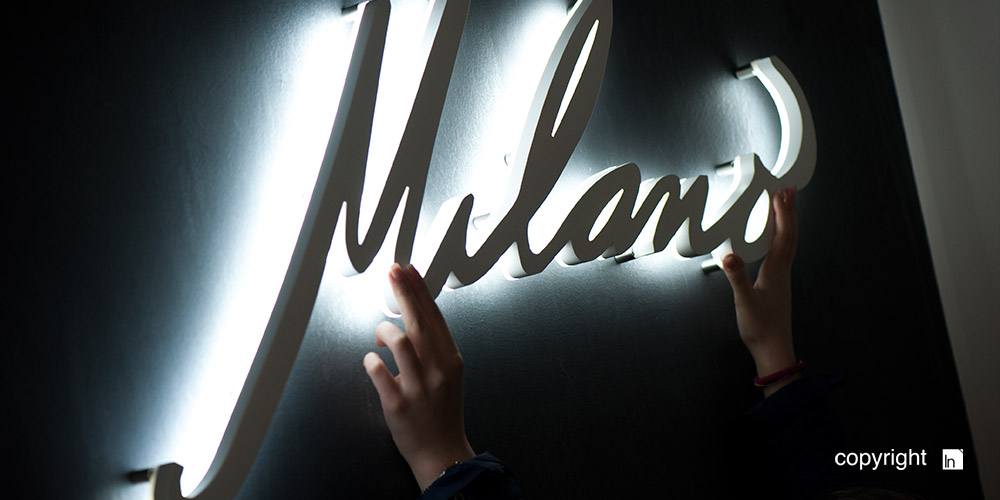 Lettere luminose led Milano