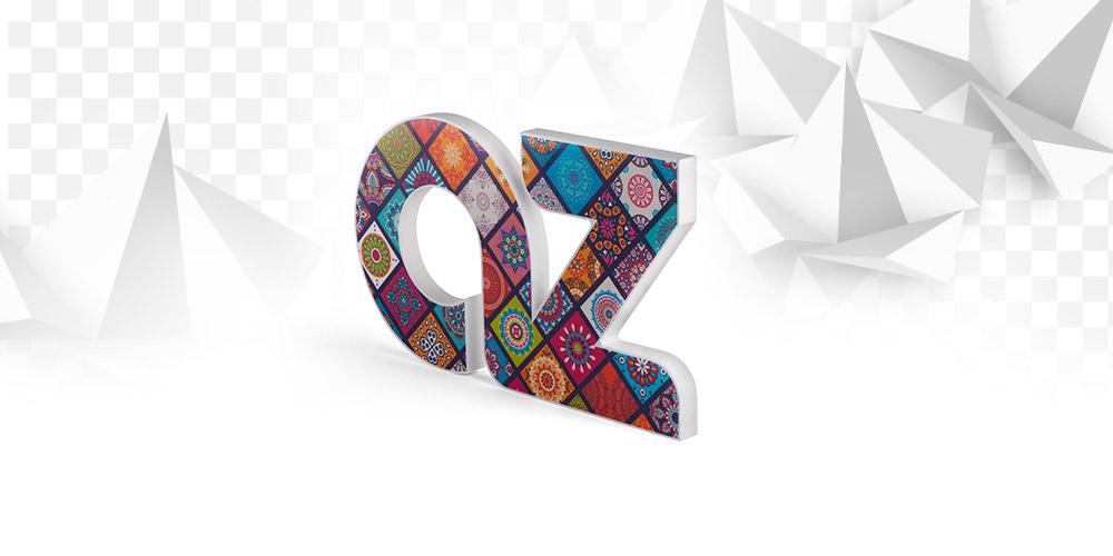 Progettazione Lettere decorative 3d per pareti