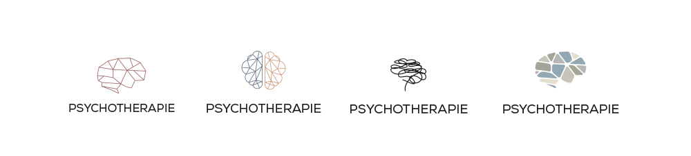 Logo studio psicologia forme astratte