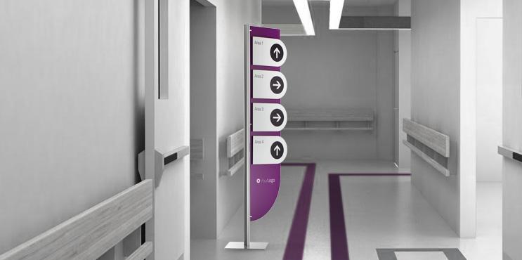 Totem e sistemi espositivi da pavimento