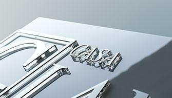 Insegne in Plexiglass bianco con lettere in rilievo