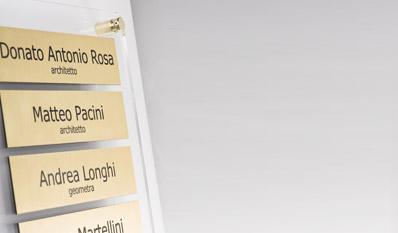Targhe in plexiglass stampate