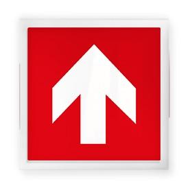 Freccia Verticale Sopra Rosso