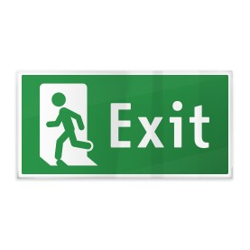 Exit con omino sinistra b