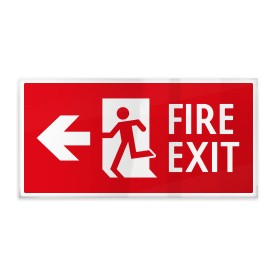 Fire exit rosso sx