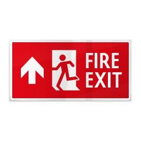 Fire exit rosso sù