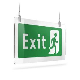 Exit con omino dx B