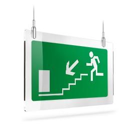 Uscita scale di emergenza sx giù