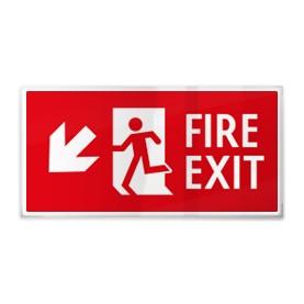 Fire exit rosso sx giù