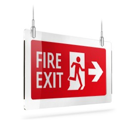 Fire exit rosso dx