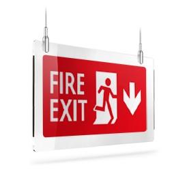 Fire exit rosso giù