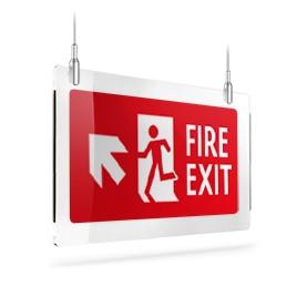 Fire exit rosso sx sù