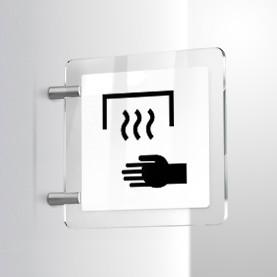 Asciugatore mani automatico parete