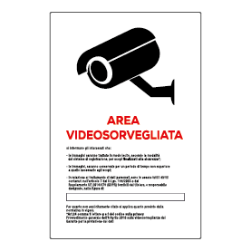 Area videosorvegliata bianca