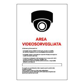 Area videosorvegliata 360 bianca