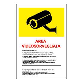 Area videosorvegliata gialla