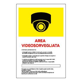 Area videosorvegliata 360 gialla
