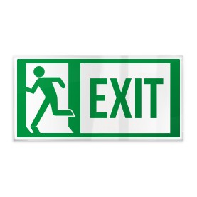 Exit con omino sinistra