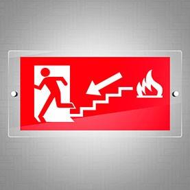 Uscita di sicurezza fuoco scale sx