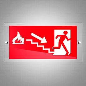 Uscita di sicurezza fuoco scale dx